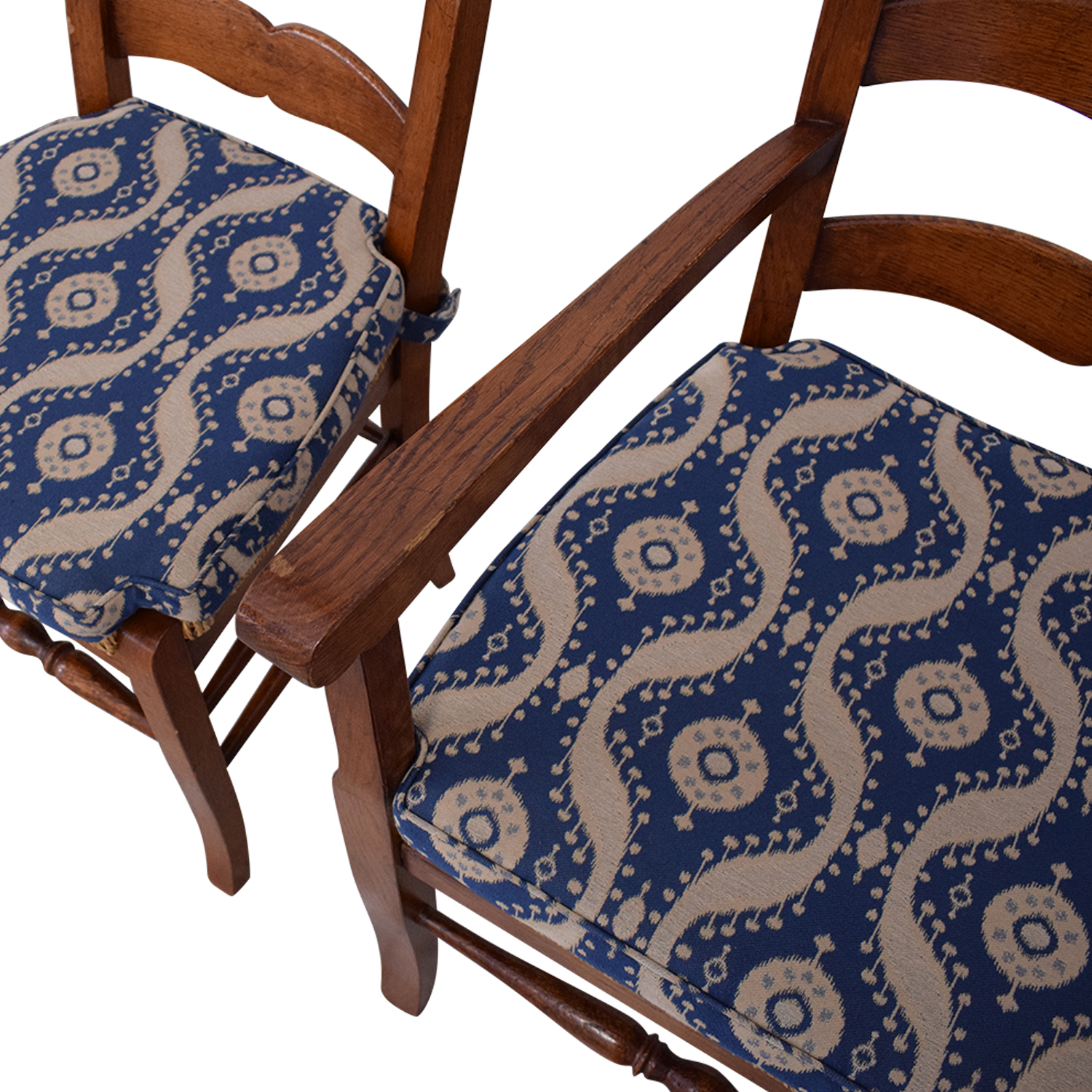 Ladder Back Cushioned Dining Chairs ma