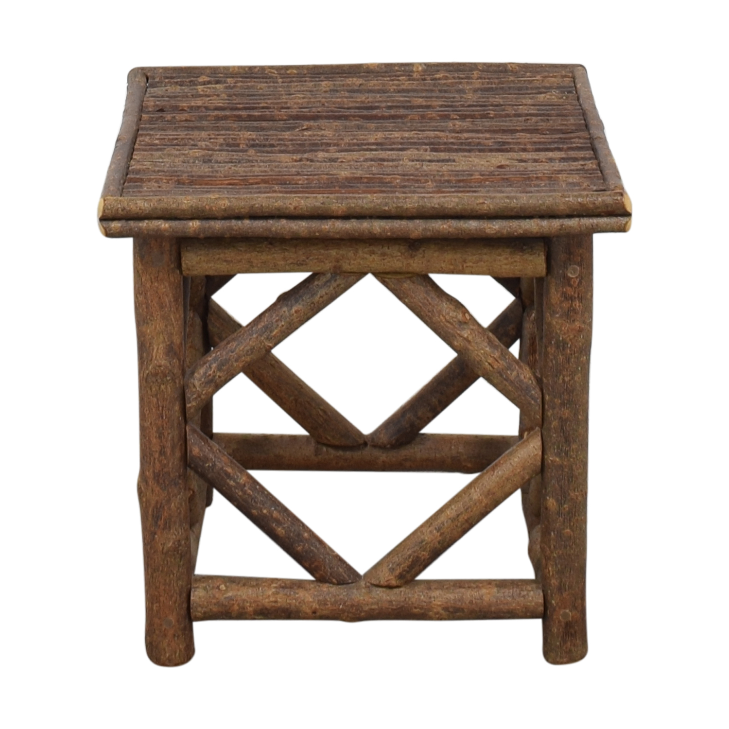 La Lune Collection Rustic End Table dimensions