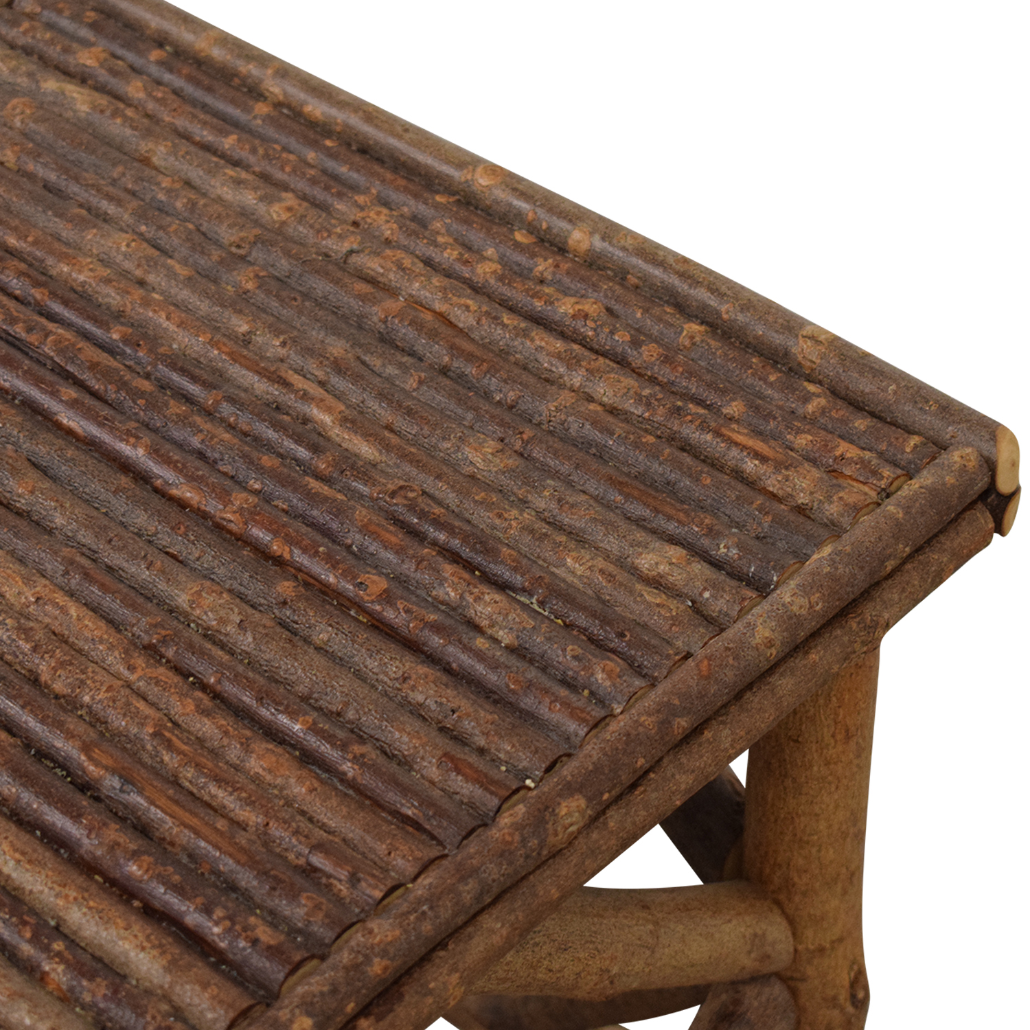 La Lune Collection Rustic End Table brown