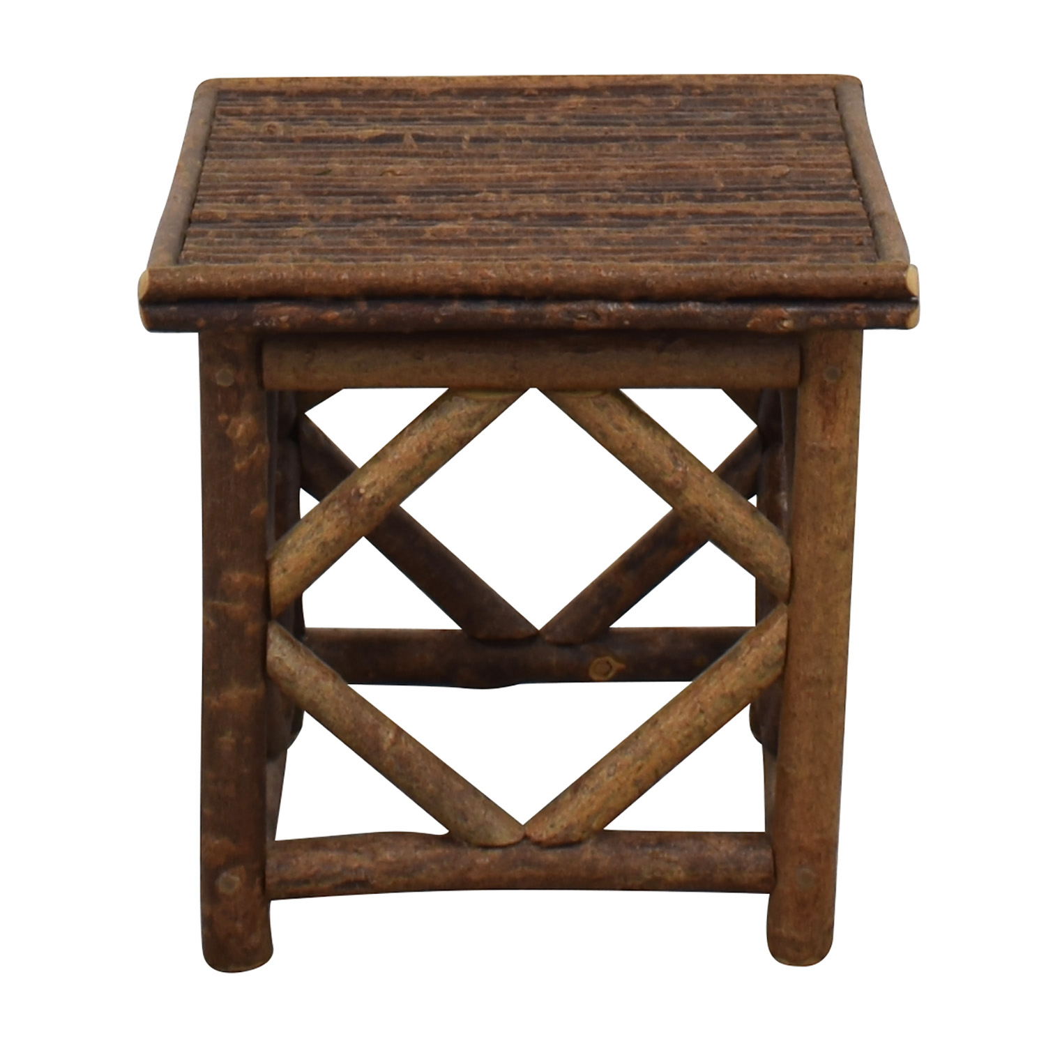 La Lune Collection Rustic End Table used
