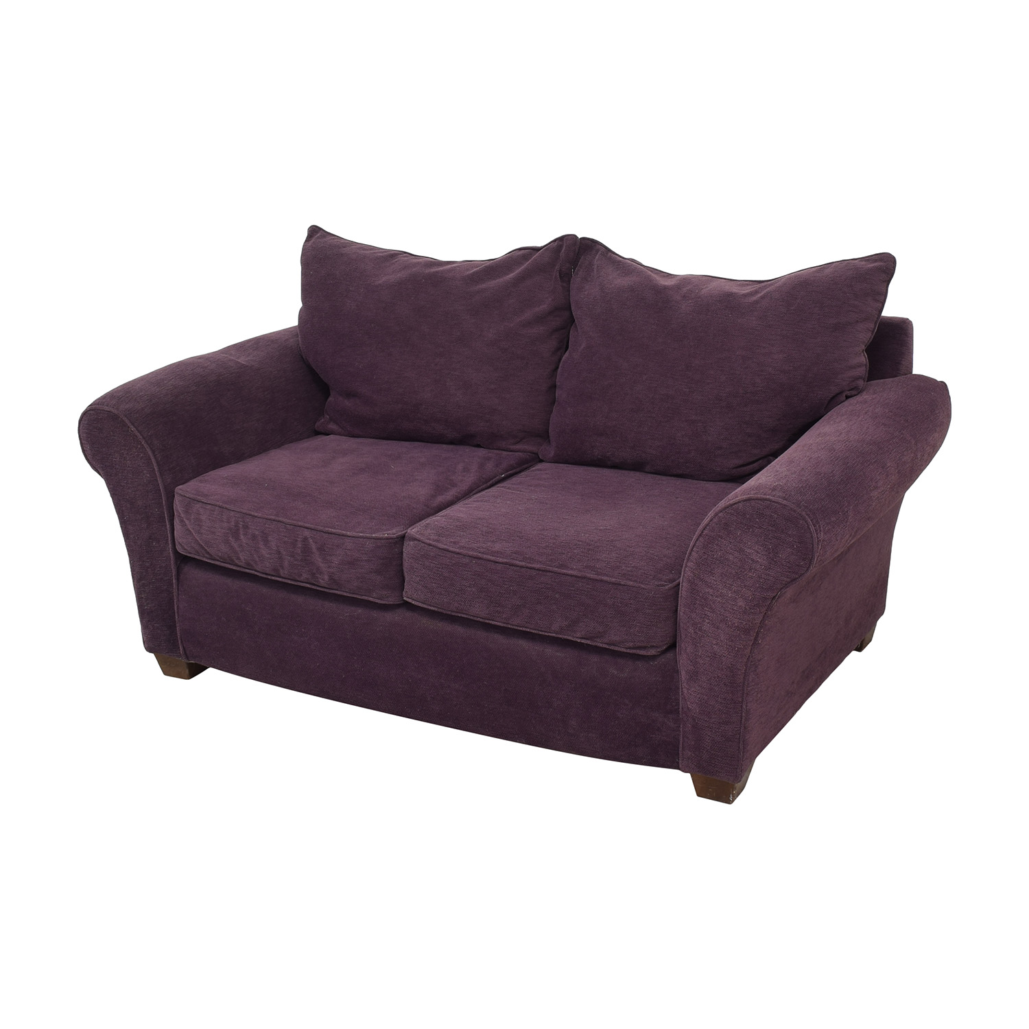 Alan White Alan White Roll Arm Loveseat Sofas