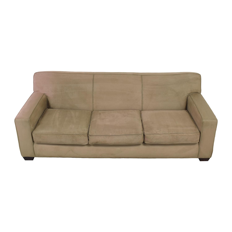Crate & Barrel Three Cushion Sofa / Sofas