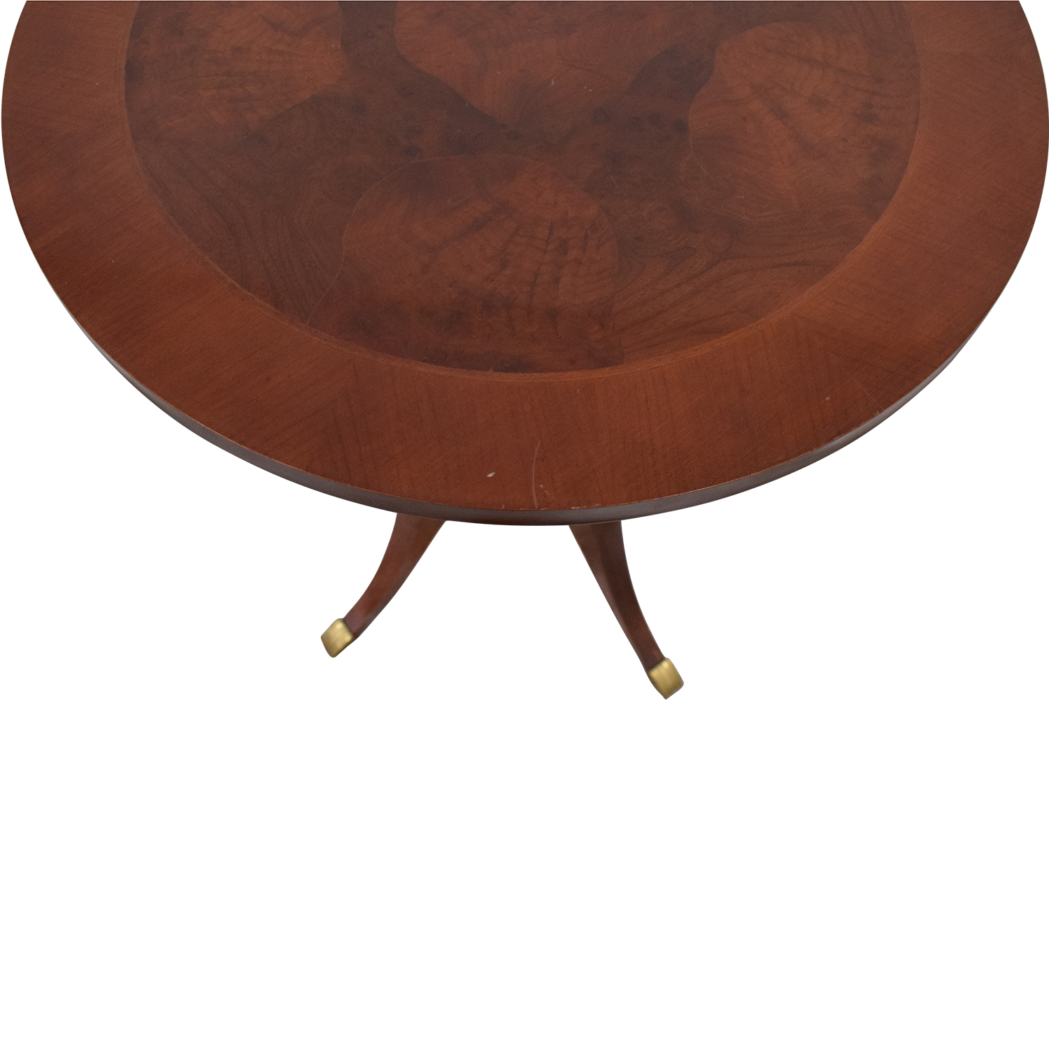 Traditional Wood Round End Table Tables