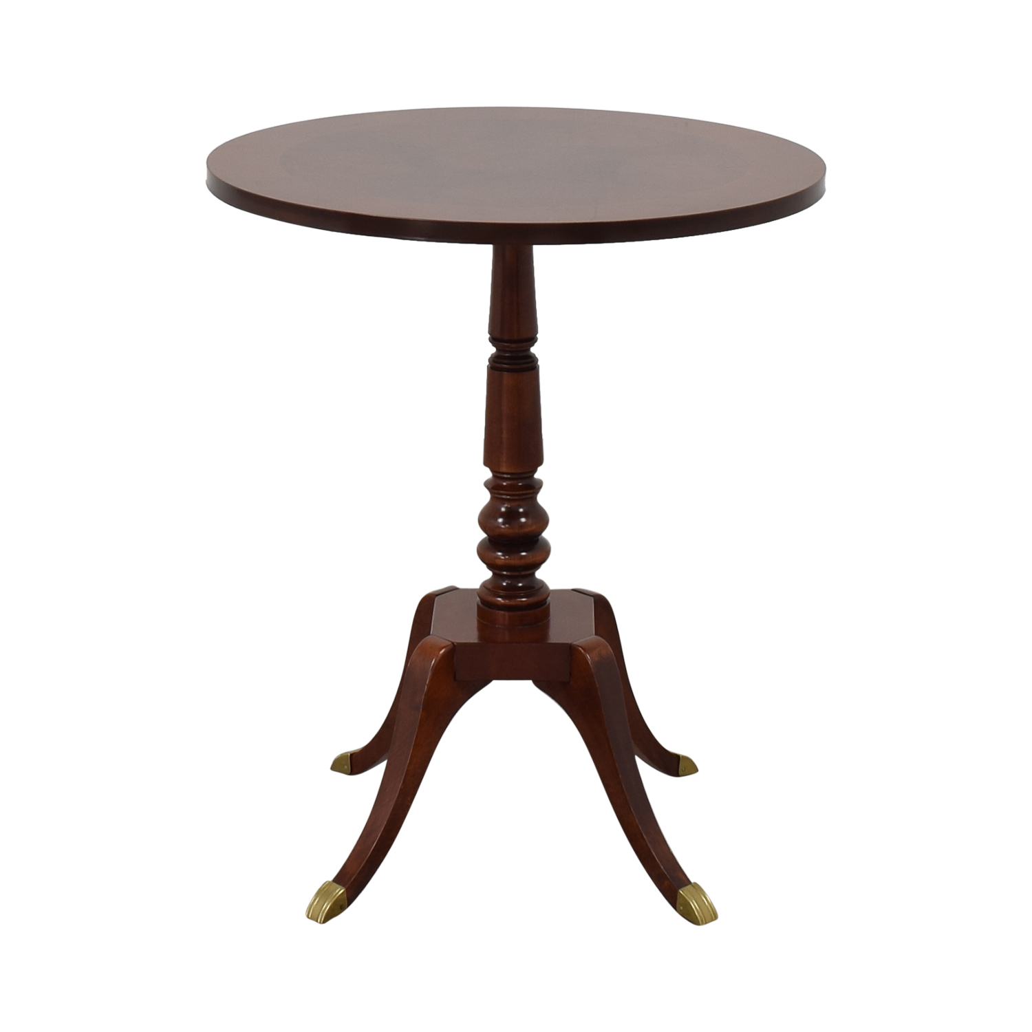 Traditional Wood Round End Table on sale