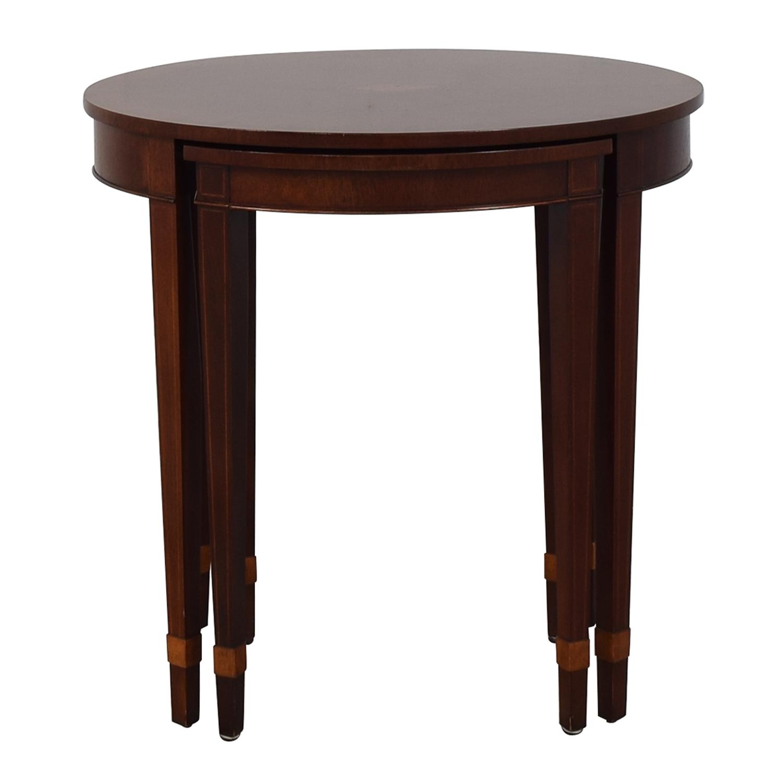 Baker Furniture Baker Furniture Nesting End Tables brown
