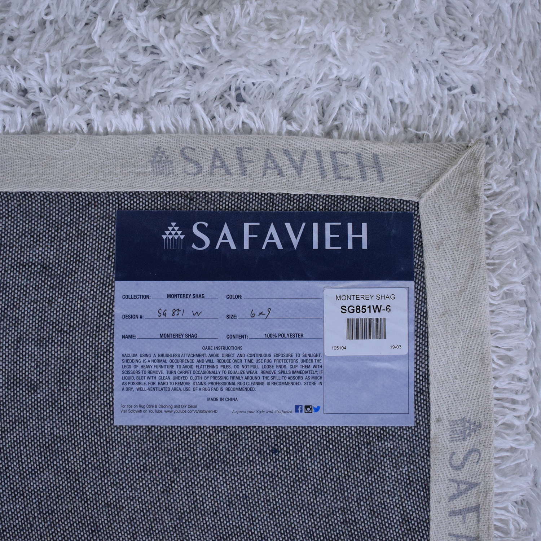 Safavieh Safavieh White Shag Area Rug price