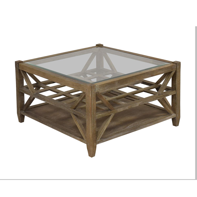 Arhaus Glass Top Coffee Table / Coffee Tables