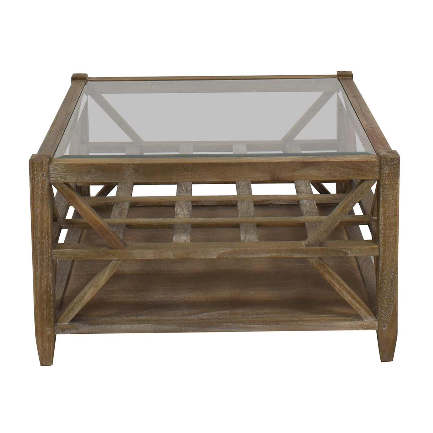 Arhaus Arhaus Glass Top Coffee Table for sale