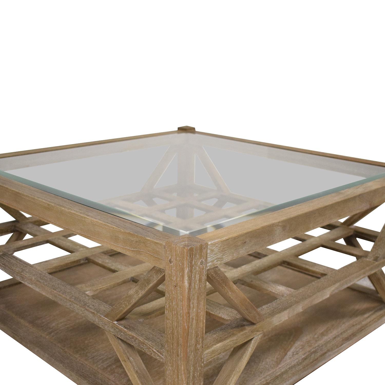shop Arhaus Glass Top Coffee Table Arhaus