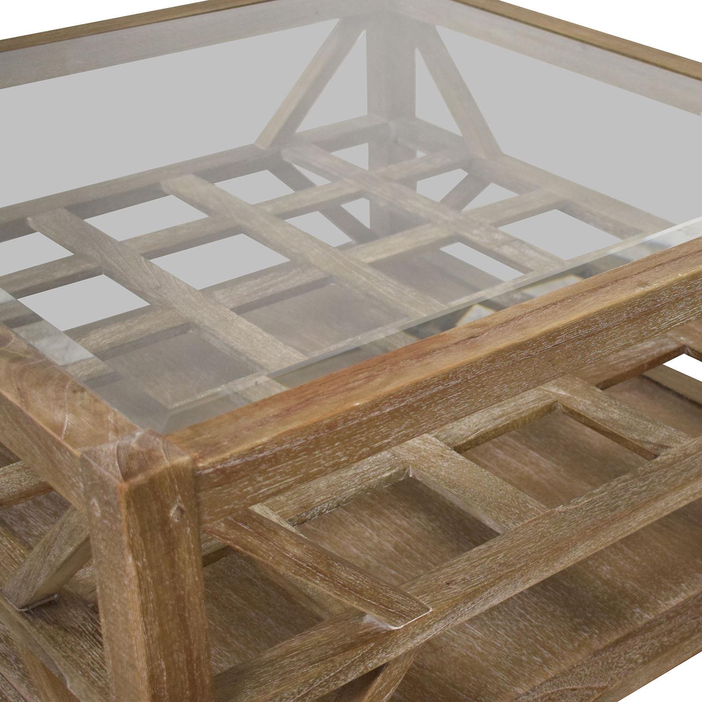 Arhaus Arhaus Glass Top Coffee Table nj