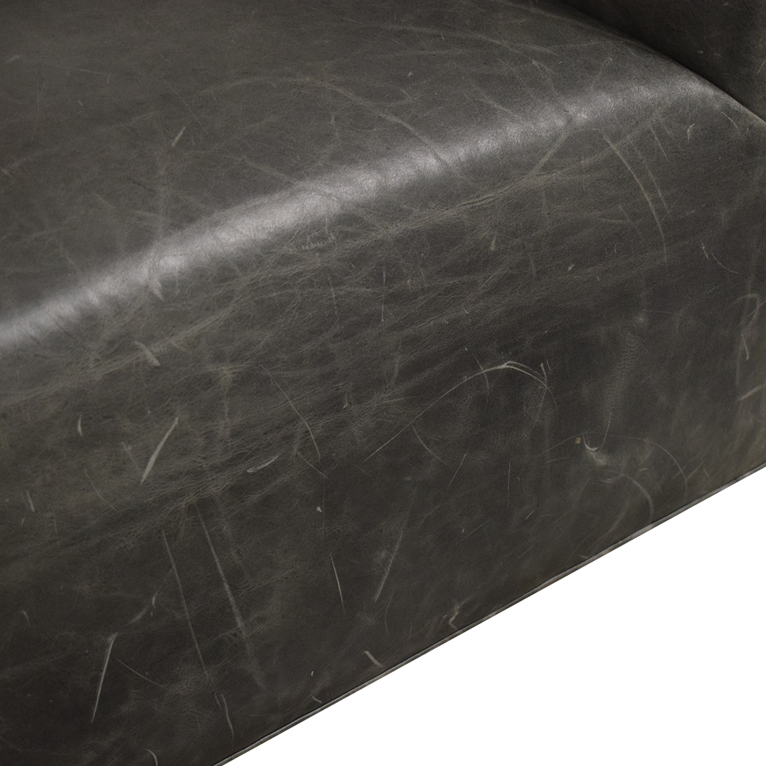 Restoration Hardware Restoration Hardware 1950s Italian Shelter Arm Leather Swivel Chair dimensions