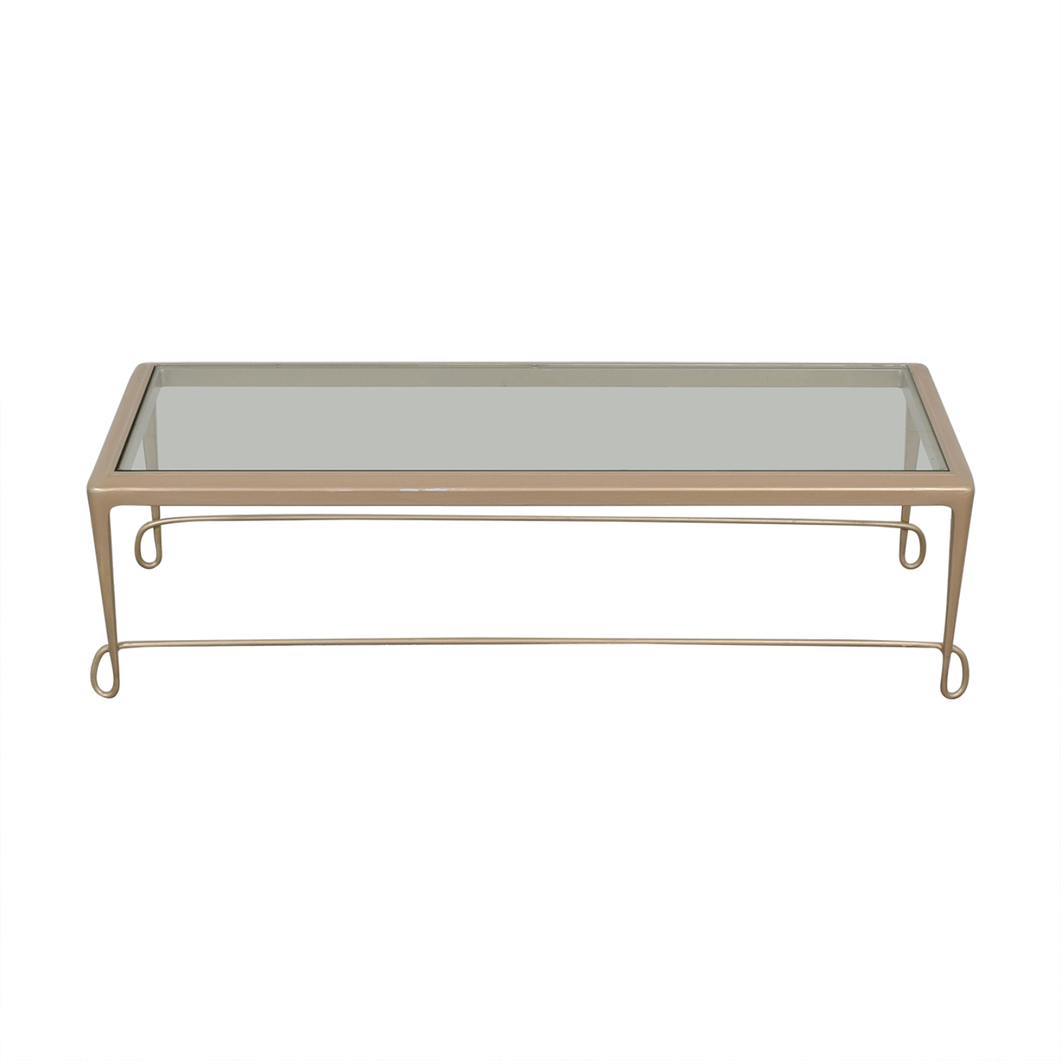 64 Off Barbara Barry Gl Top Coffee Table Tables