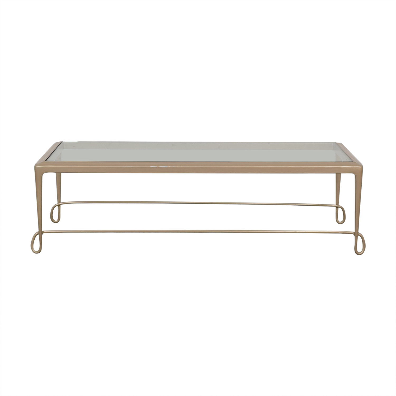 Barbara Barry Barbara Barry Glass Top Coffee Table for sale