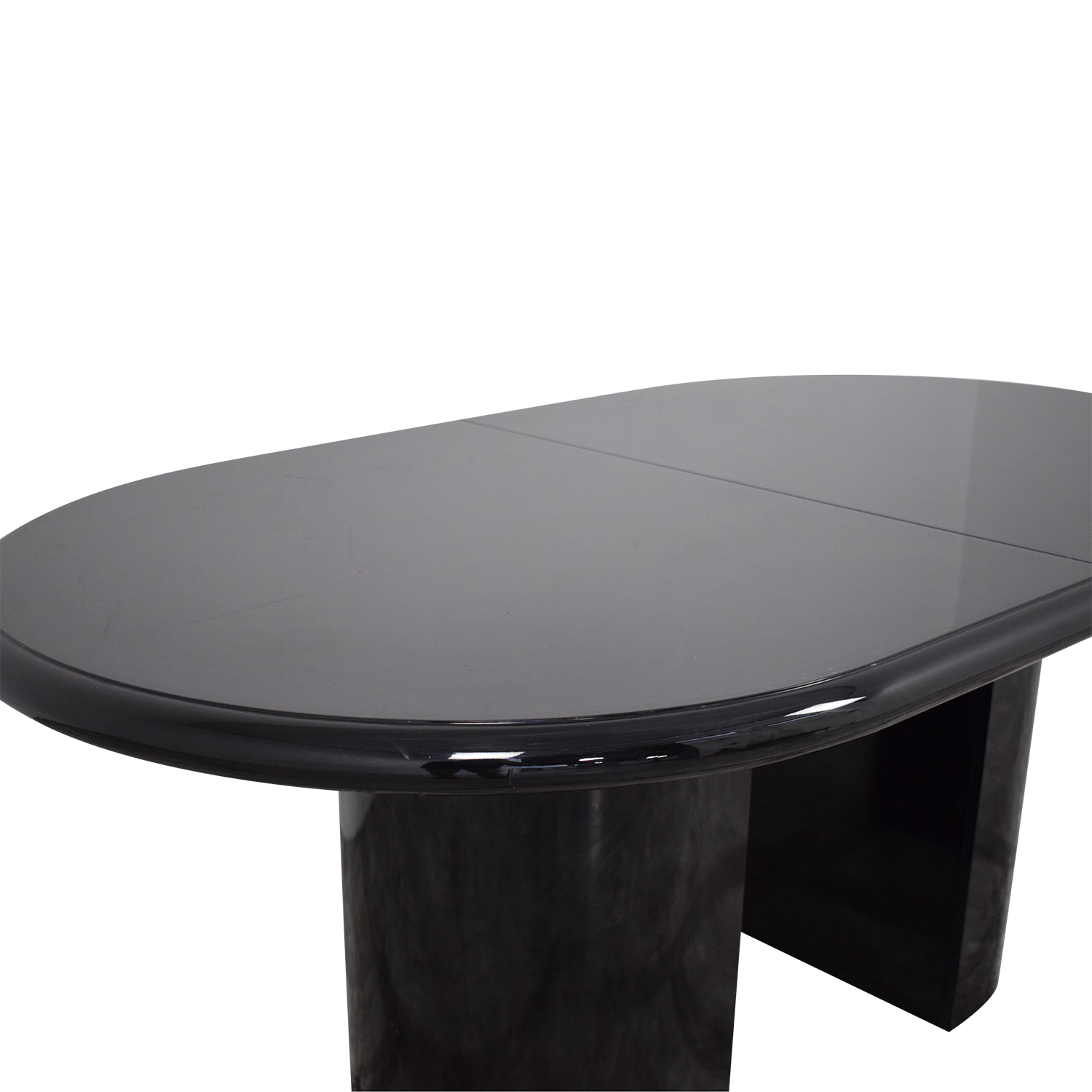 Art Deco Style Extendable Dining Table black
