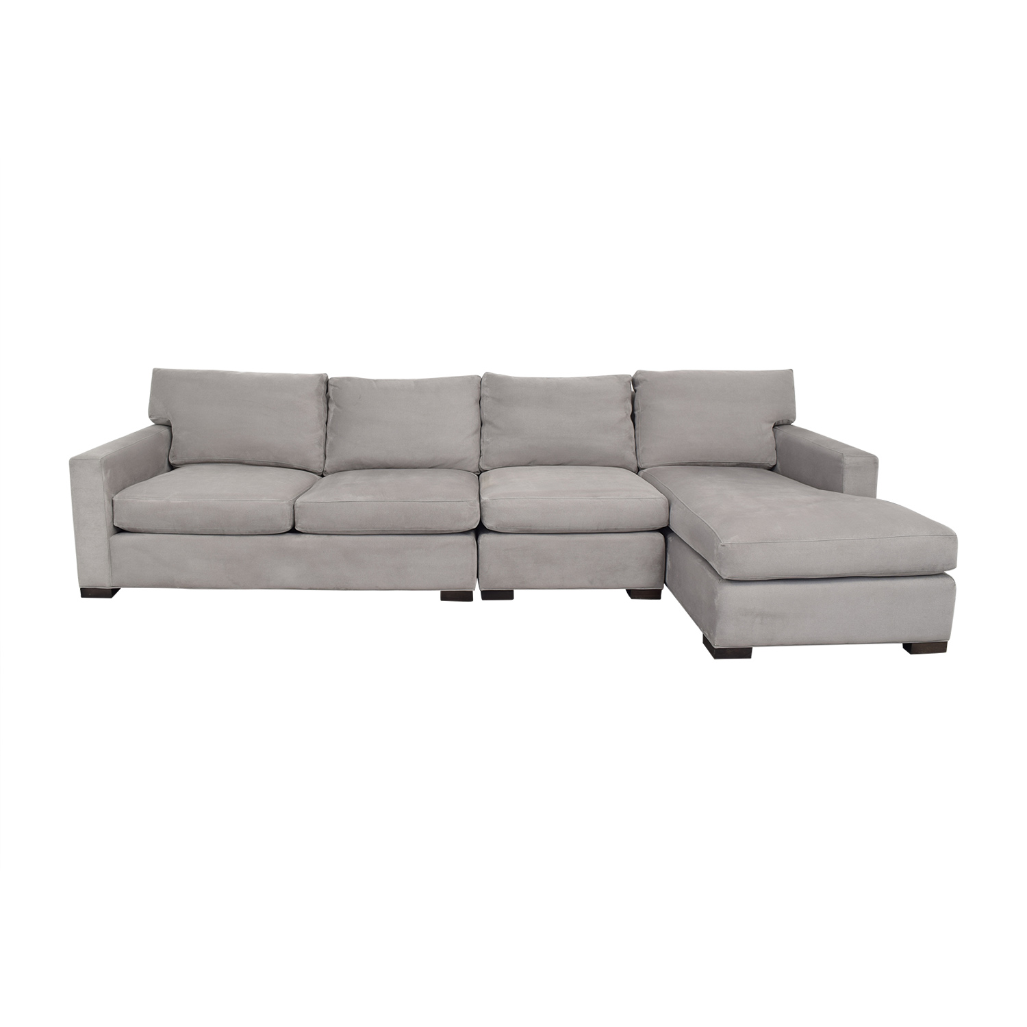 57% OFF - Crate & Barrel Crate & Barrel Axis II Sectional Sofa with Chaise  / Sofas
