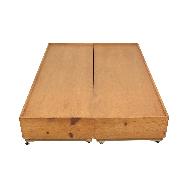 buy Gothic Cabinet Craft Gothic Cabinet Craft Captain's Queen Bed online