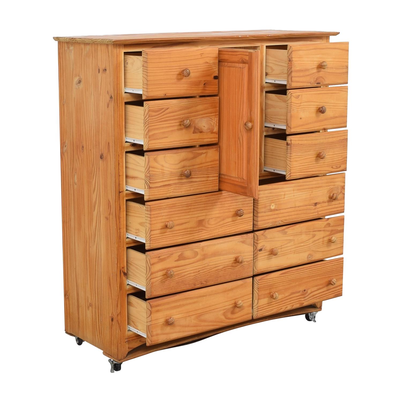 Gothic Cabinet Craft Gothic Cabinet Craft Twelve Drawer Dresser for sale