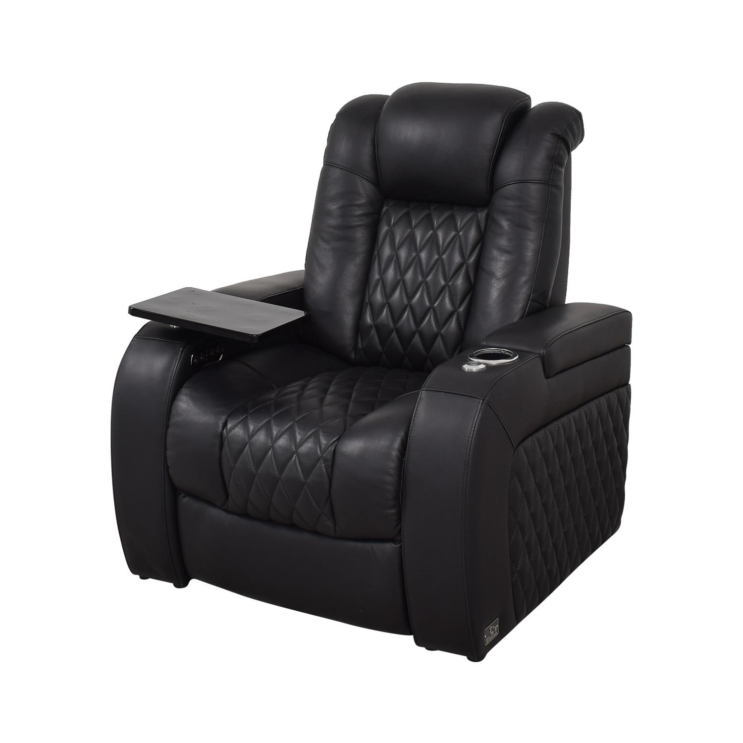shop Seatcraft Seatcraft Diamante Home Theater Seating Leather Power Recliner online