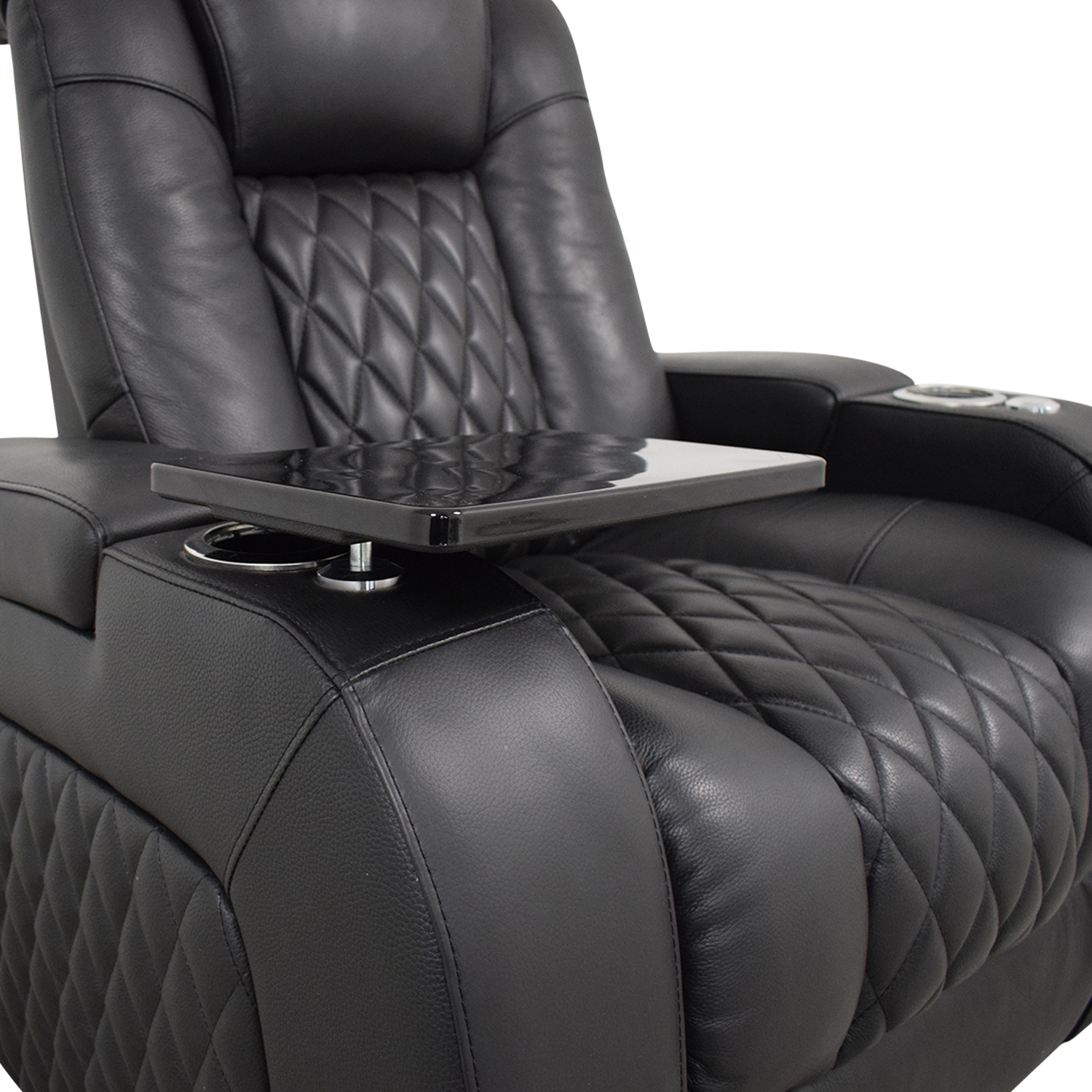 Seatcraft Seatcraft Diamante Home Theater Seating Leather Power Recliner second hand