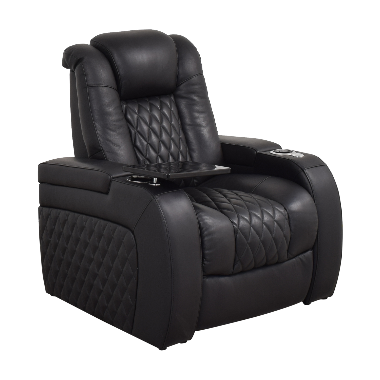 Seatcraft Seatcraft Diamante Home Theater Seating Leather Power Recliner Chairs