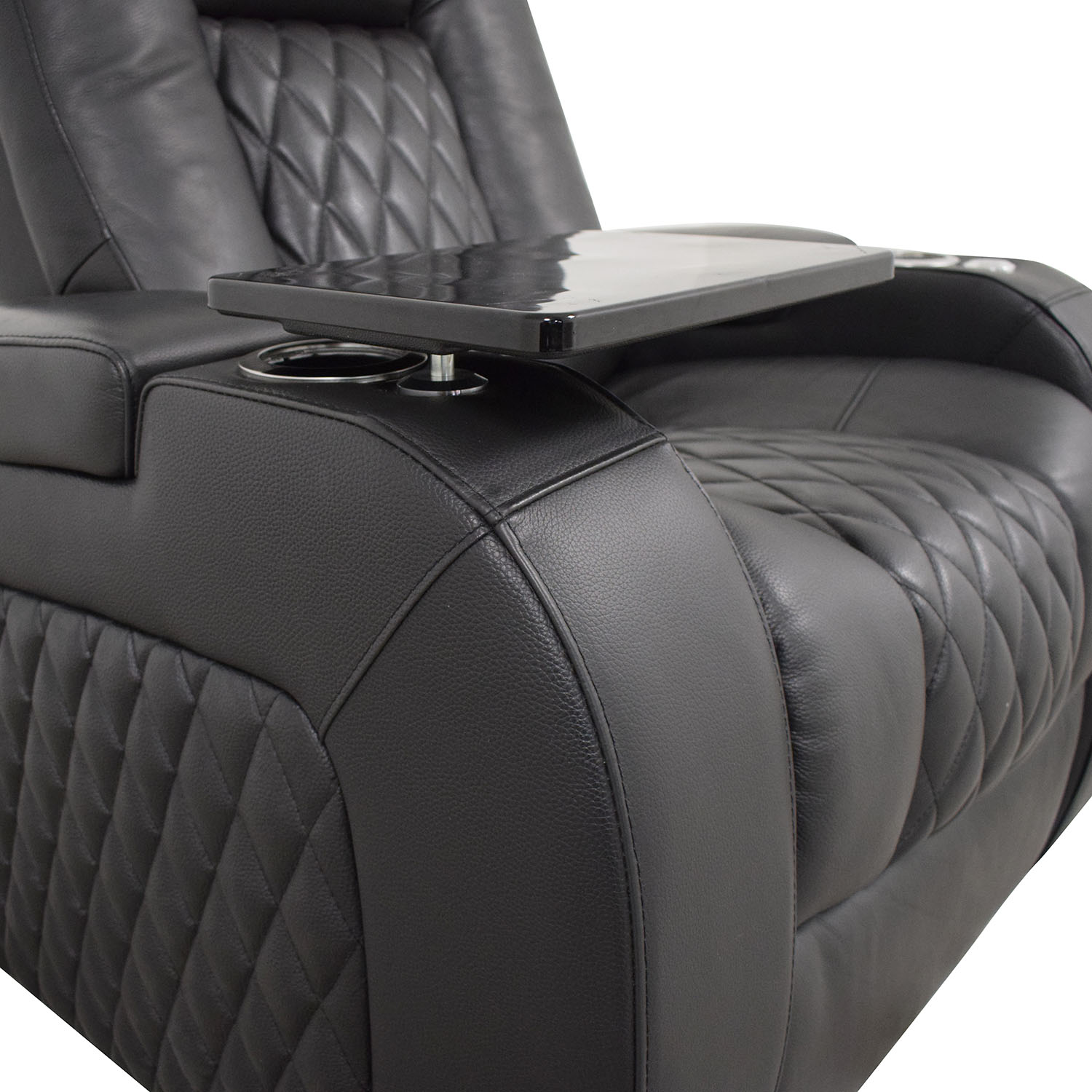 shop Seatcraft Diamante Home Theater Seating Leather Power Recliner Seatcraft Recliners