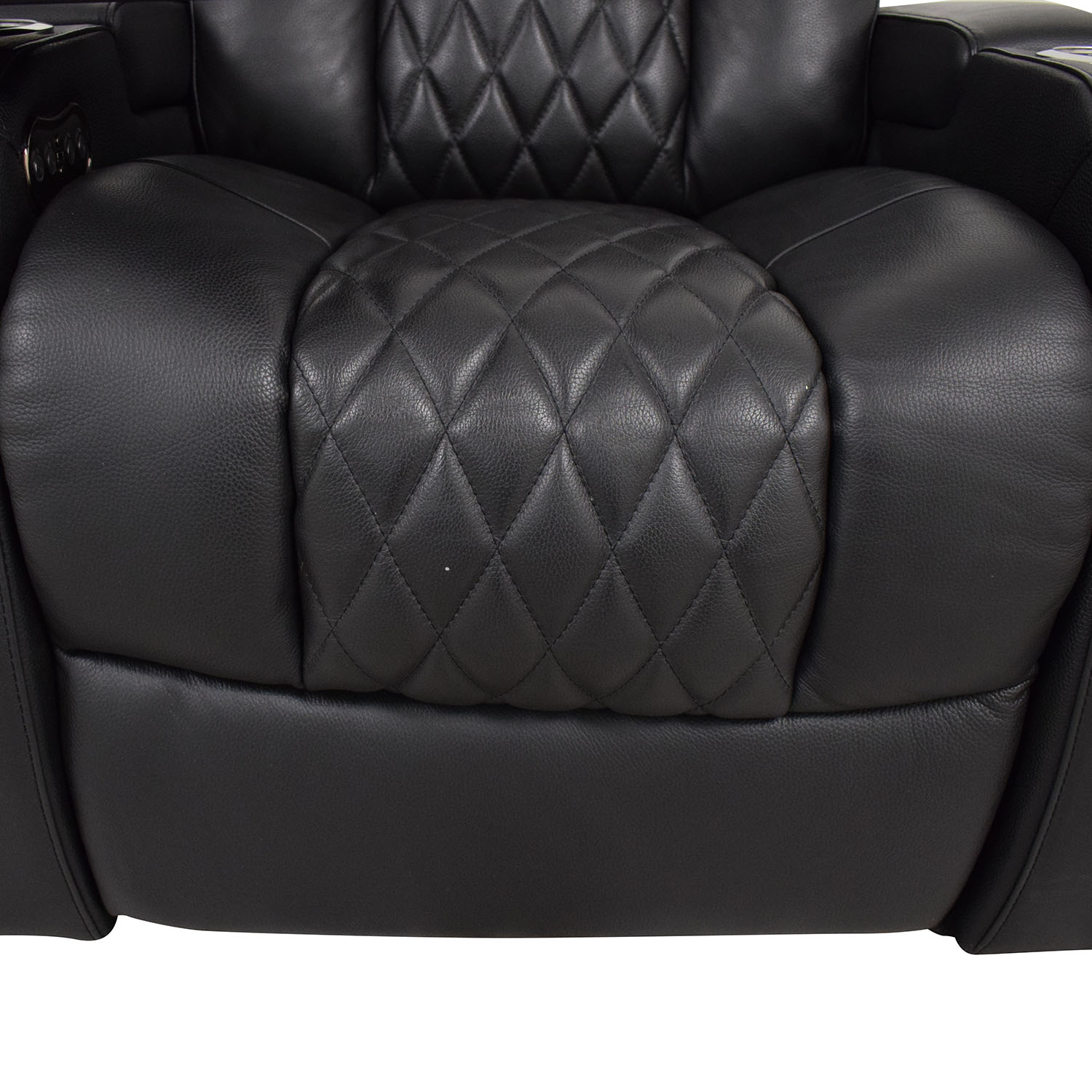 Seatcraft Seatcraft Diamante Home Theater Seating Leather Power Recliner black