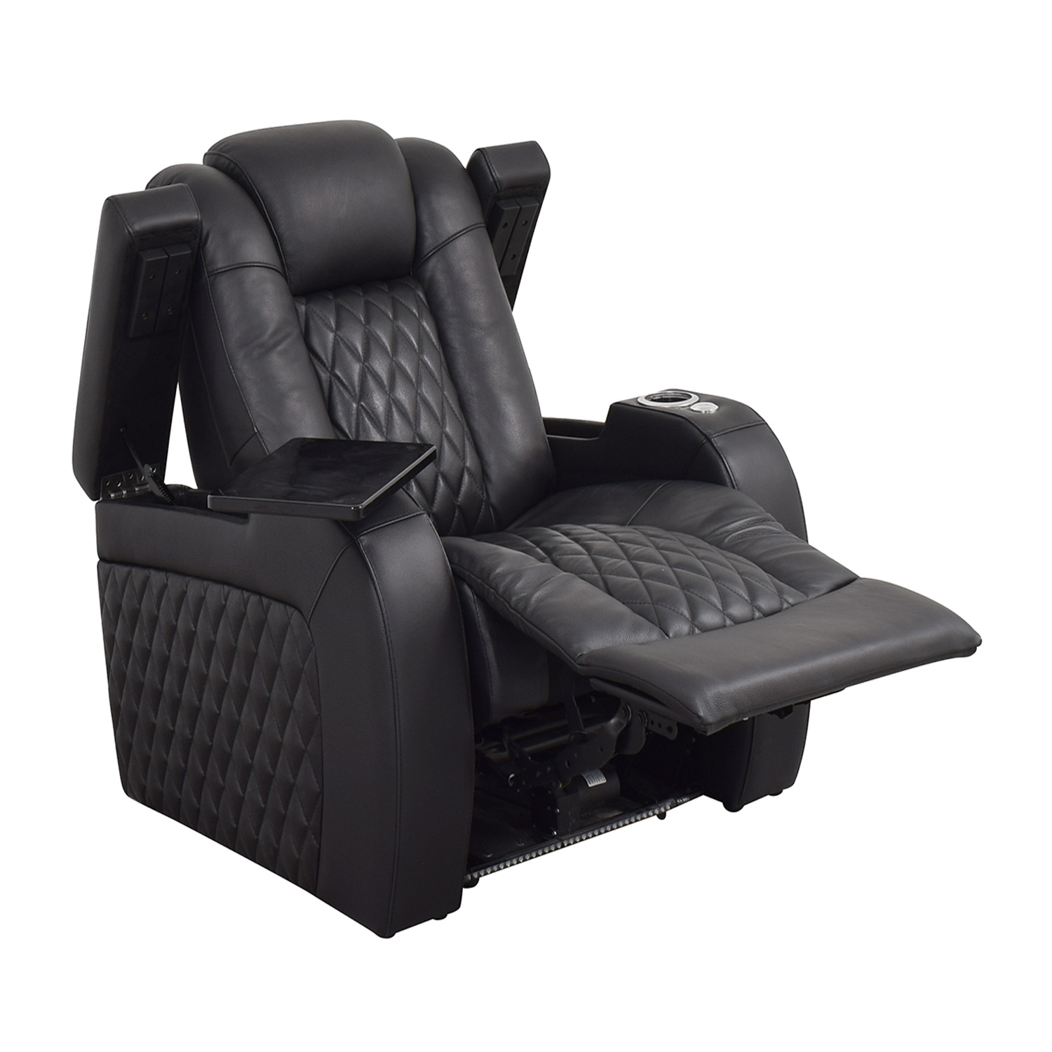 Seatcraft Diamante Home Theater Seating Leather Power Recliner Seatcraft