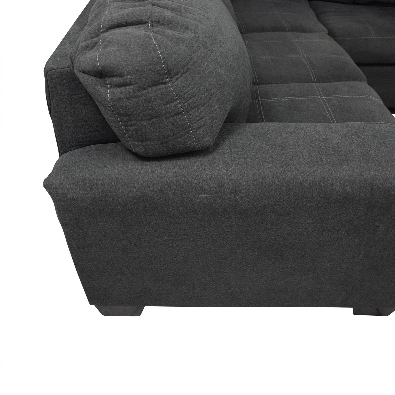 Ashley Furniture Ashley Furniture 3-Piece Sectional Sofa dark blue