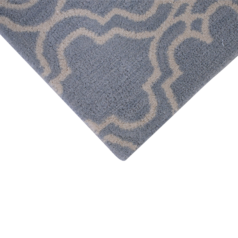 buy Pottery Barn Pottery Barn Porcelain Blue Scroll Tile Rug online