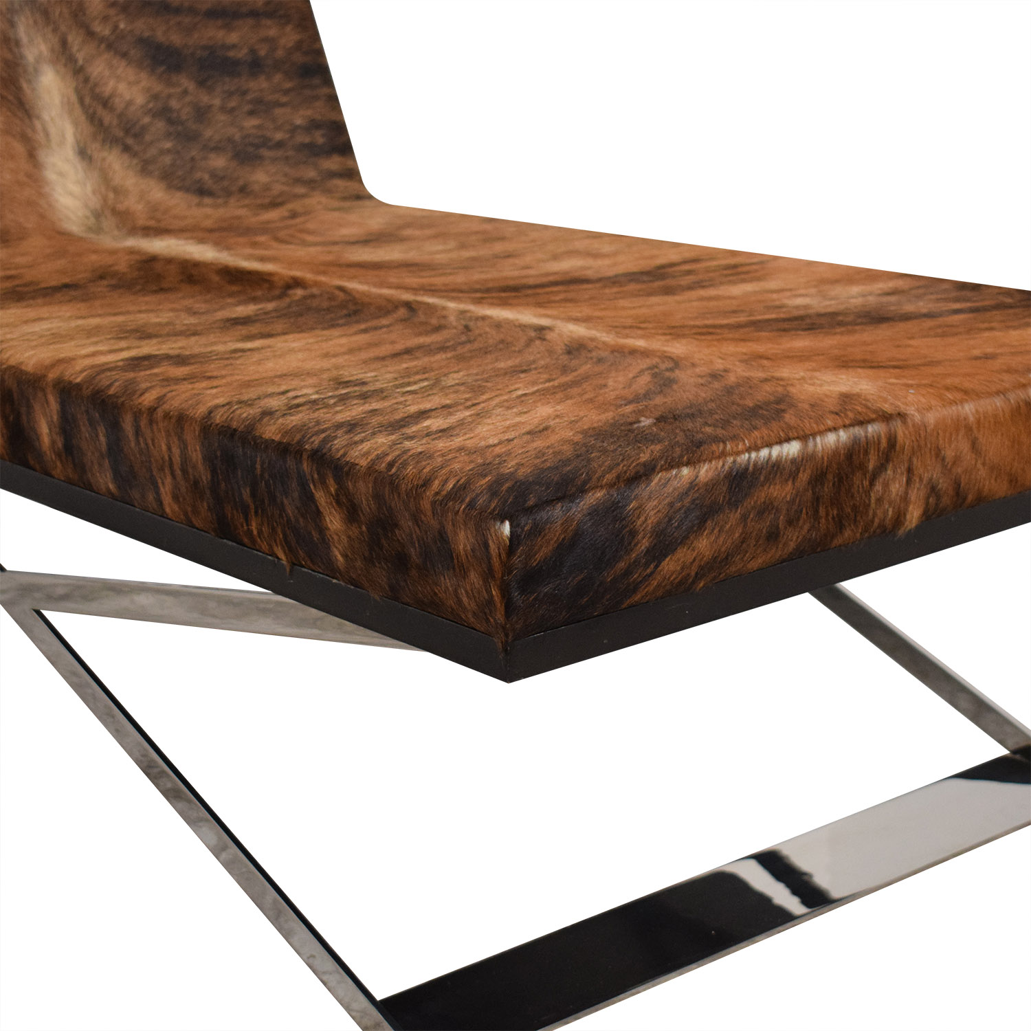 Moura Starr Moura Starr Kalup Chaise Lounge in Araca Cow Hide Chaises