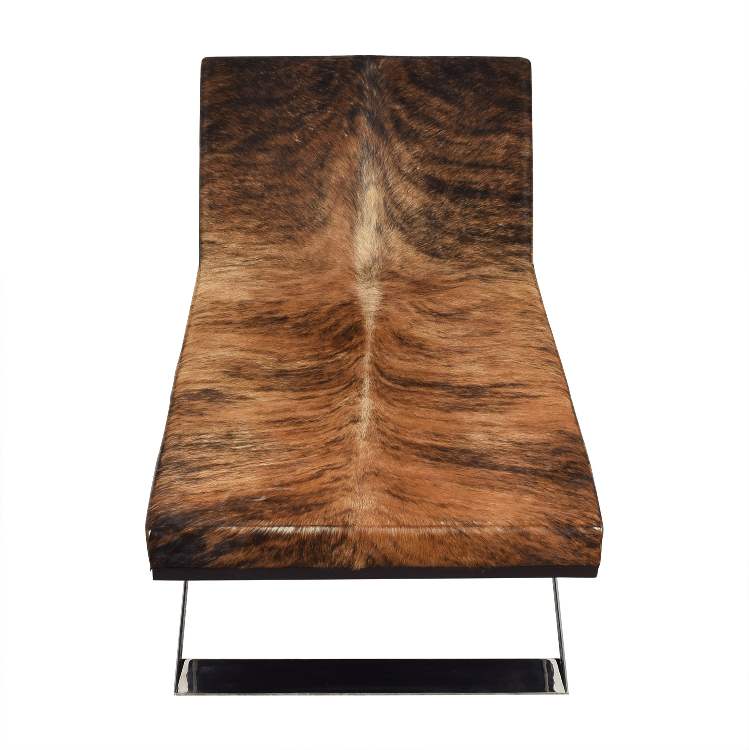 Moura Starr Kalup Chaise Lounge in Araca Cow Hide sale
