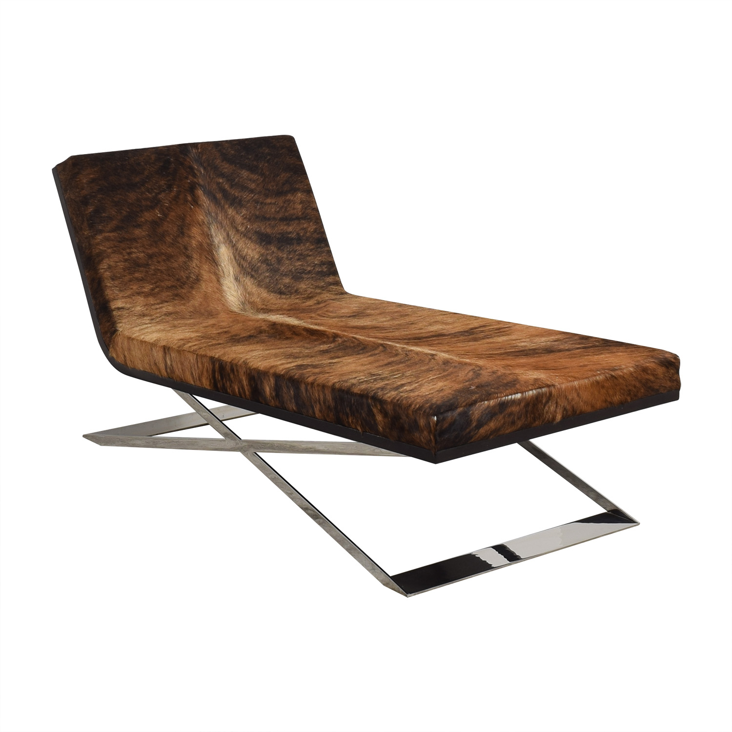 Moura Starr Moura Starr Kalup Chaise Lounge in Araca Cow Hide