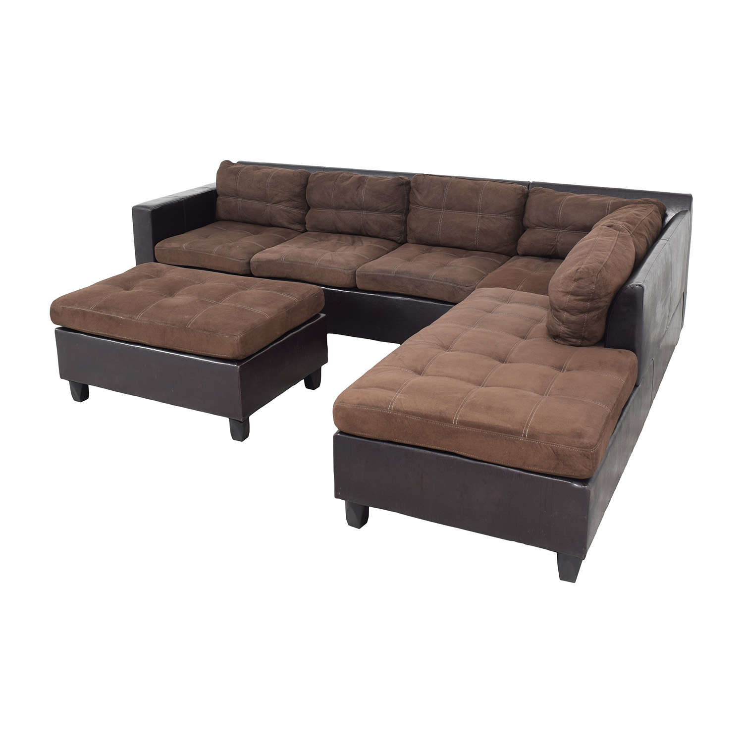 Chaise Sectional Sofa and Ottoman