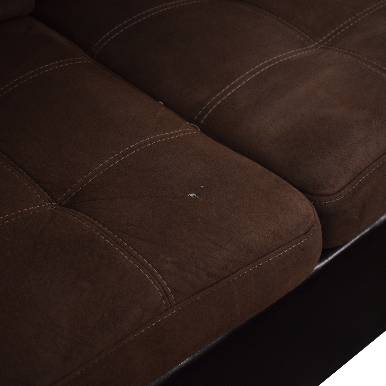 Chaise Sectional Sofa and Ottoman / Sectionals