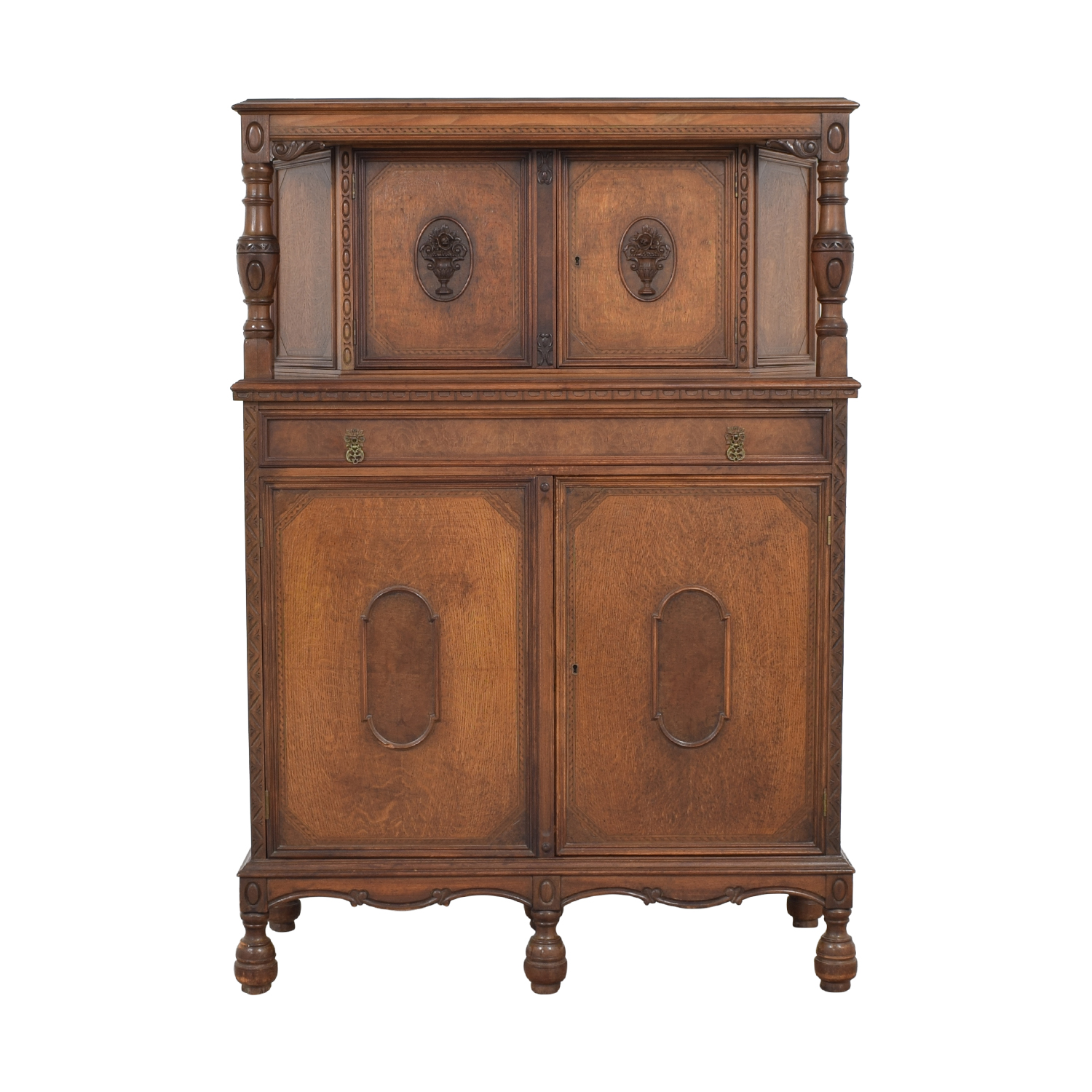 76 Off Vintage Bar Cabinet Storage