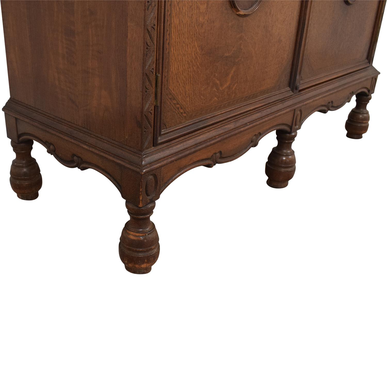 Vintage Armoire Cabinet Storage