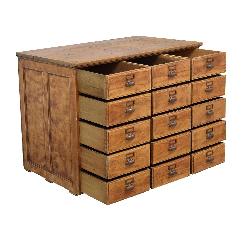shop Vintage Fifteen Drawer Dresser  Dressers