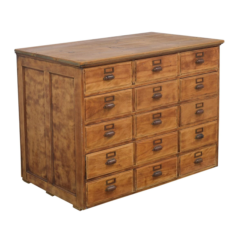 Vintage Fifteen Drawer Dresser on sale