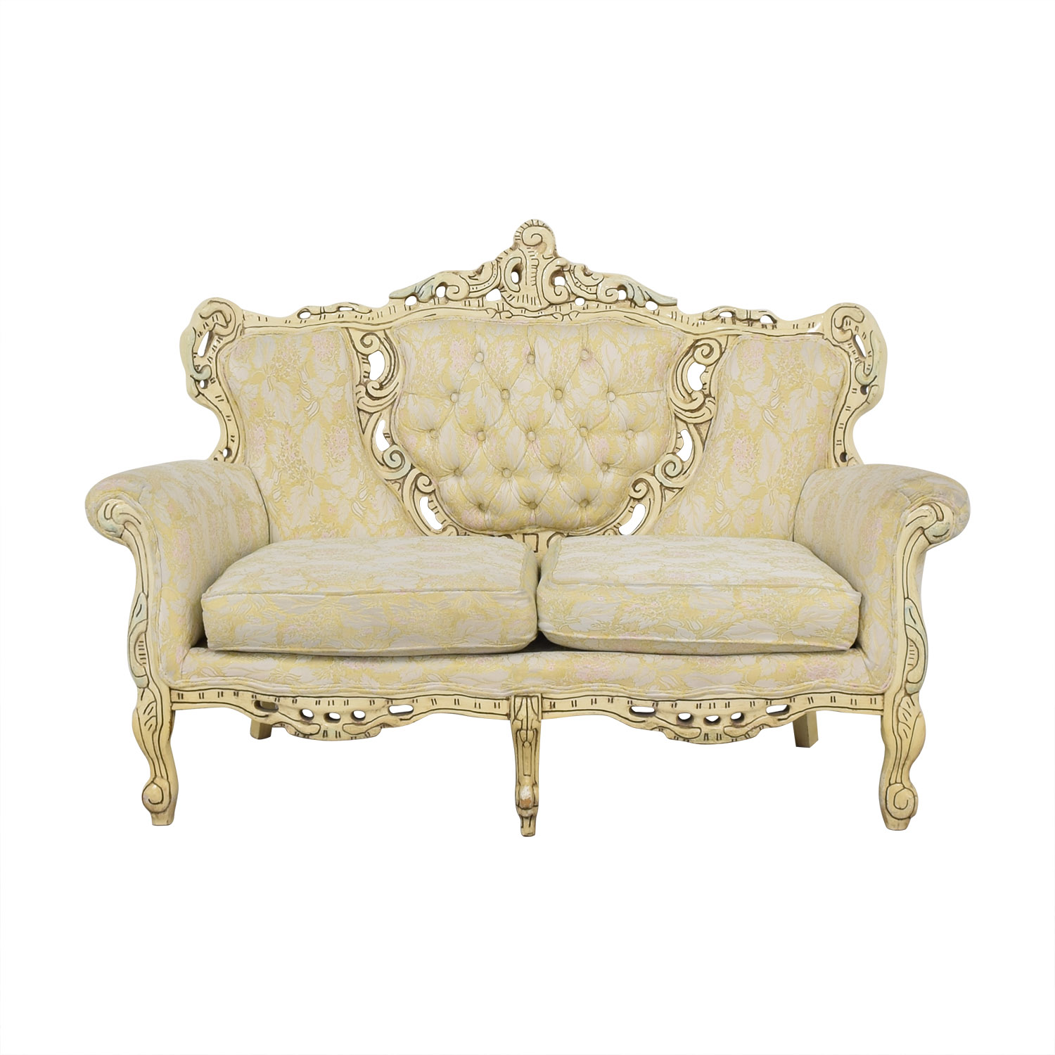 Vintage Ornate Italian Sofa