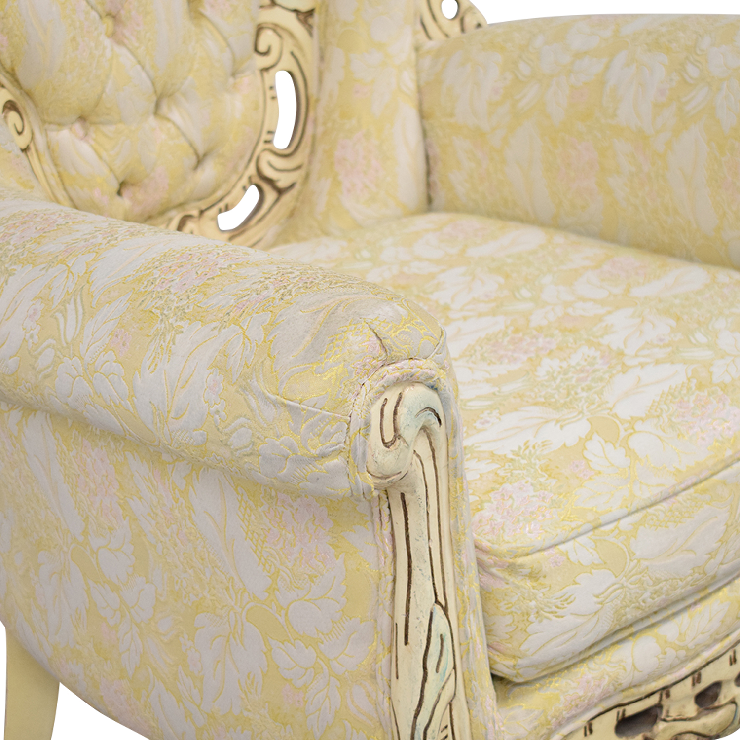 Ornate Vintage Italian Armchair / Accent Chairs