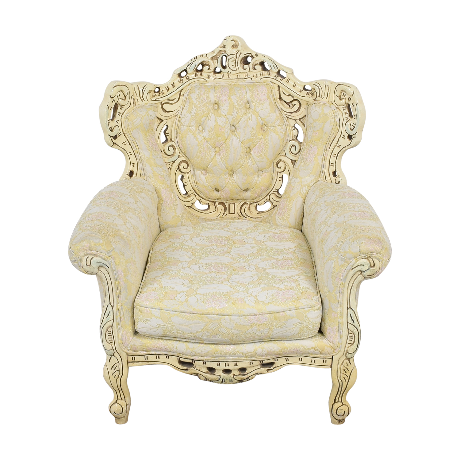 Ornate Vintage Italian Armchair / Chairs