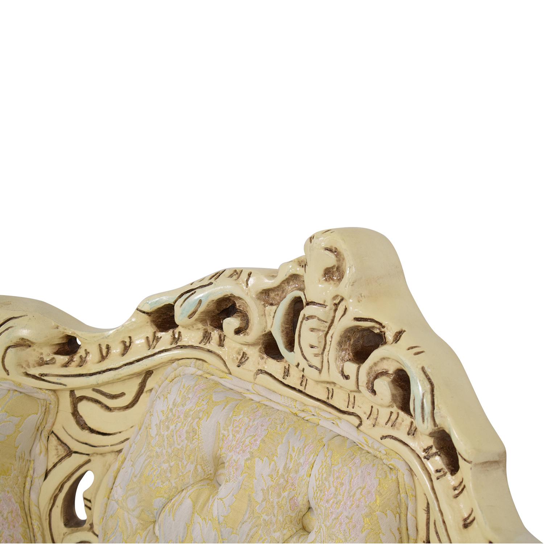 Ornate Vintage Italian Armchair nj
