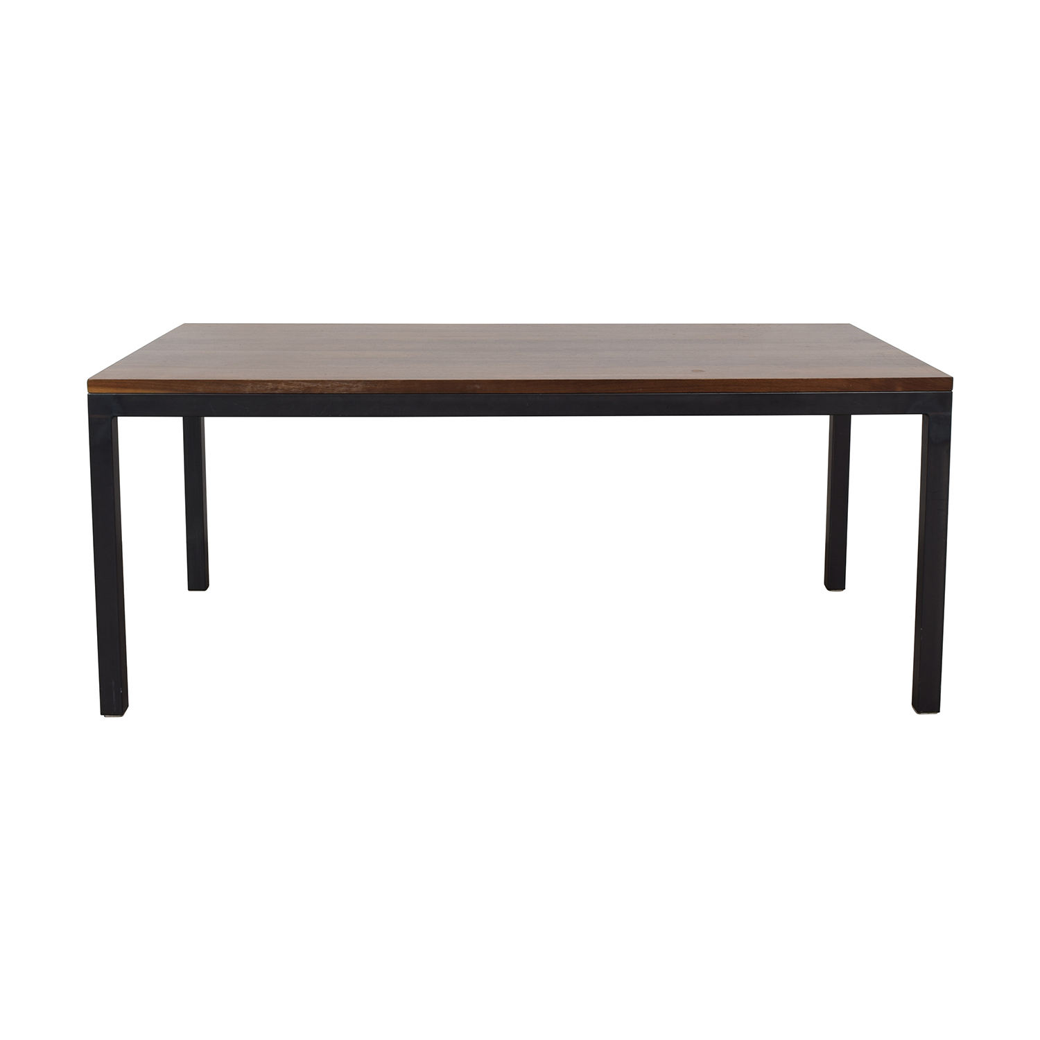 Room & Board Room & Board Walnut Parsons Table with Natural Steel for sale