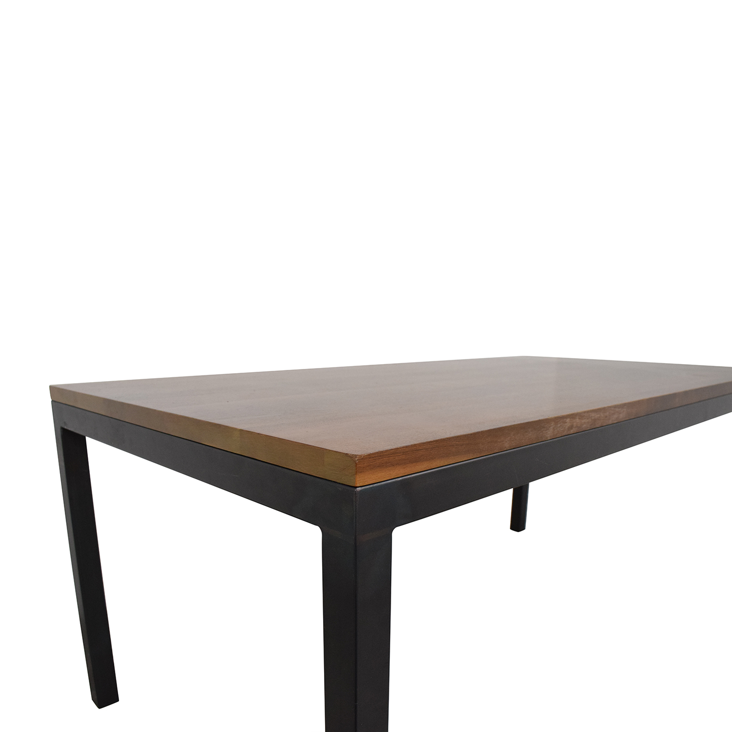 Room & Board Room & Board Walnut Parsons Table with Natural Steel Dinner Tables
