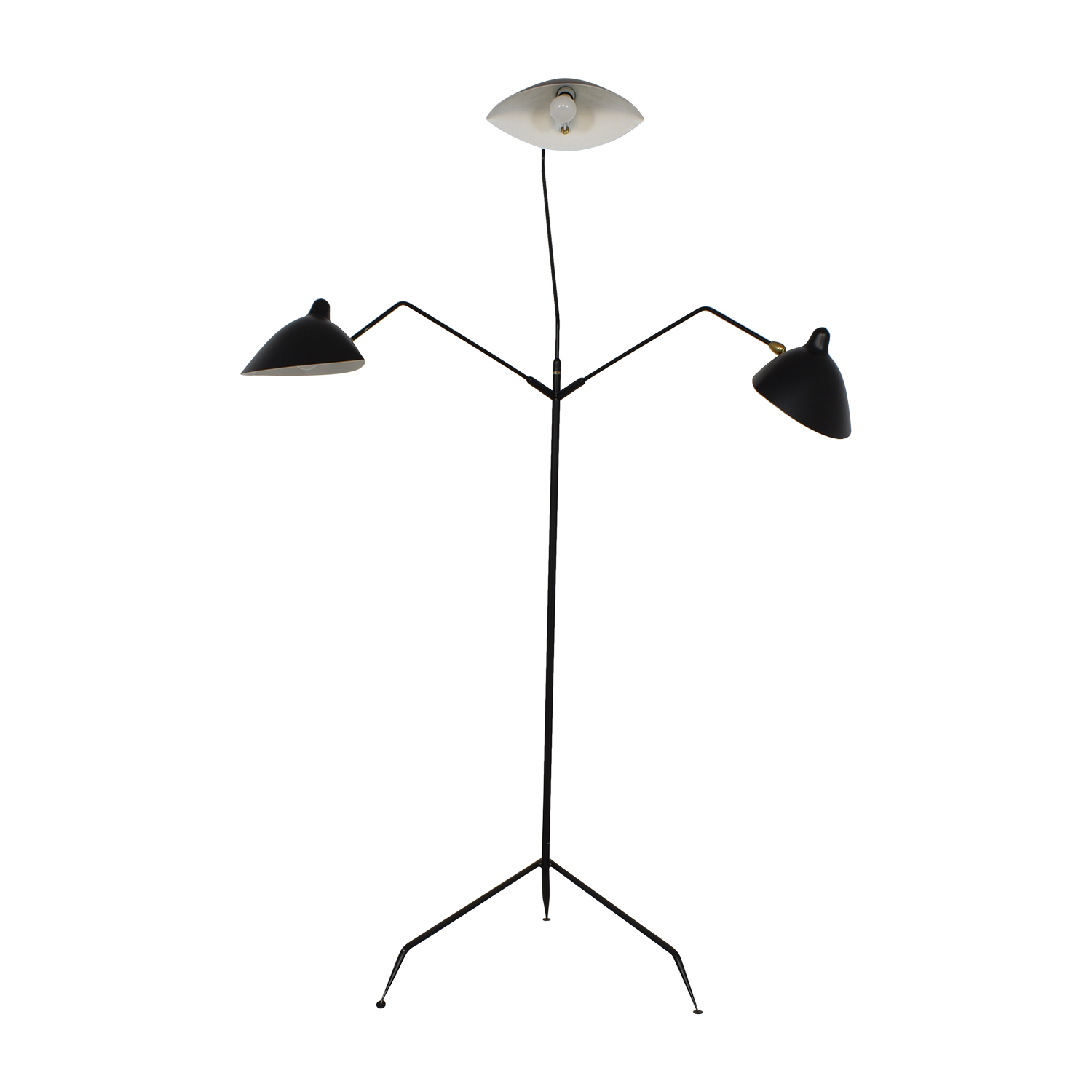 shop Design Within Reach Serge Mouille Three-Arm Floor Lamp Design Within Reach