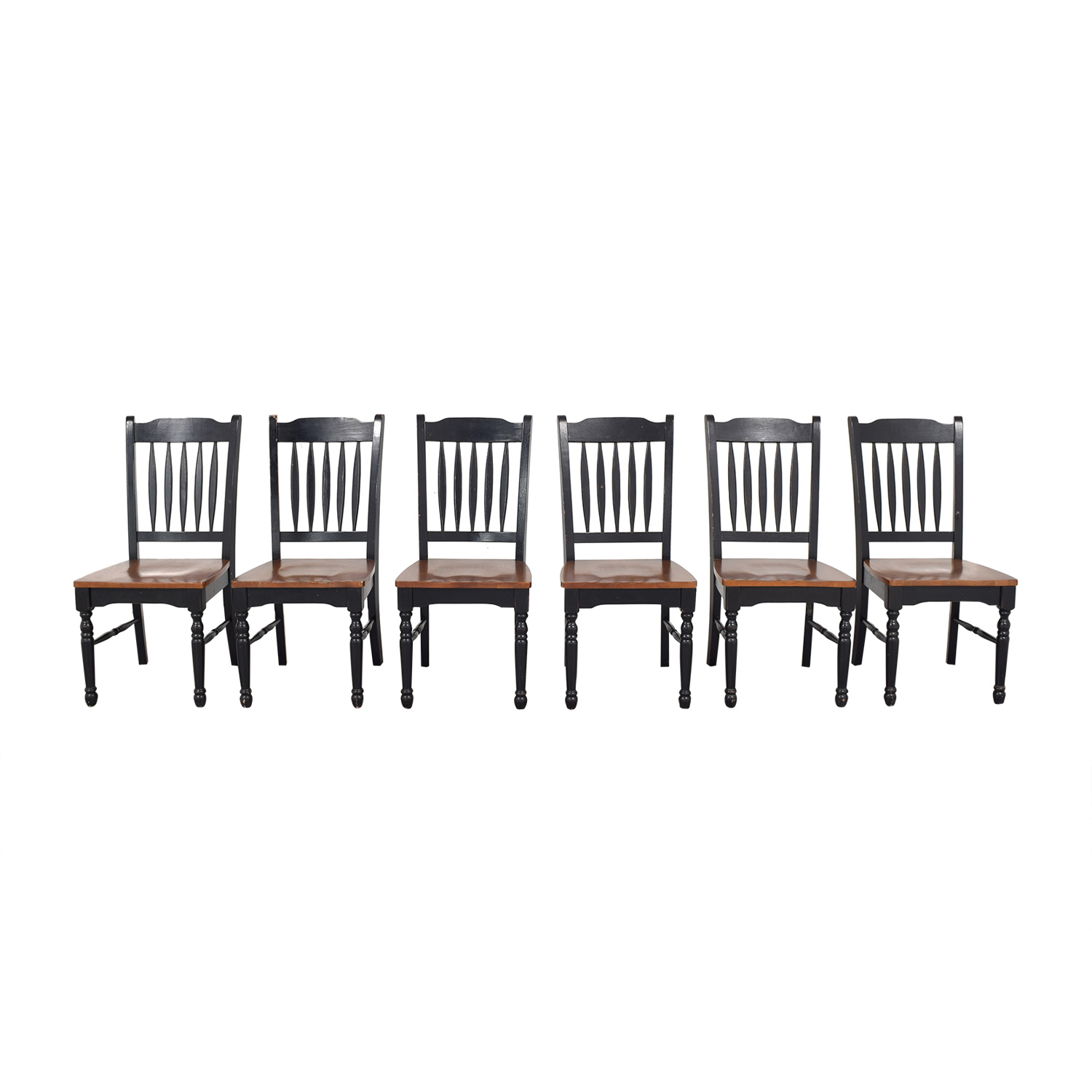 Pottery Barn Pottery Barn Spindle Back Dining Chairs discount
