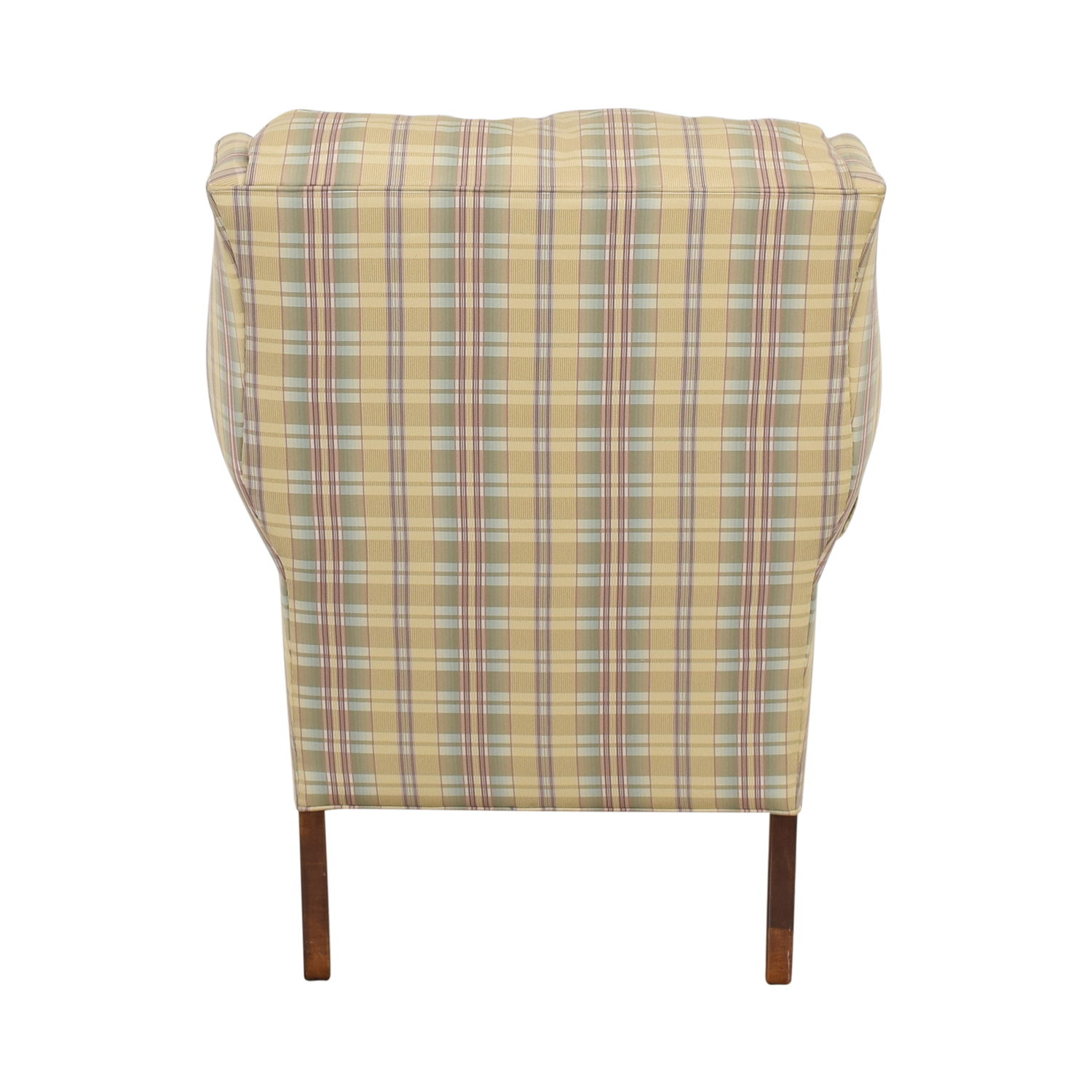 Excellent 57 Off Ethan Allen Ethan Allen Plaid Wingback Chair And Ottoman Chairs Inzonedesignstudio Interior Chair Design Inzonedesignstudiocom