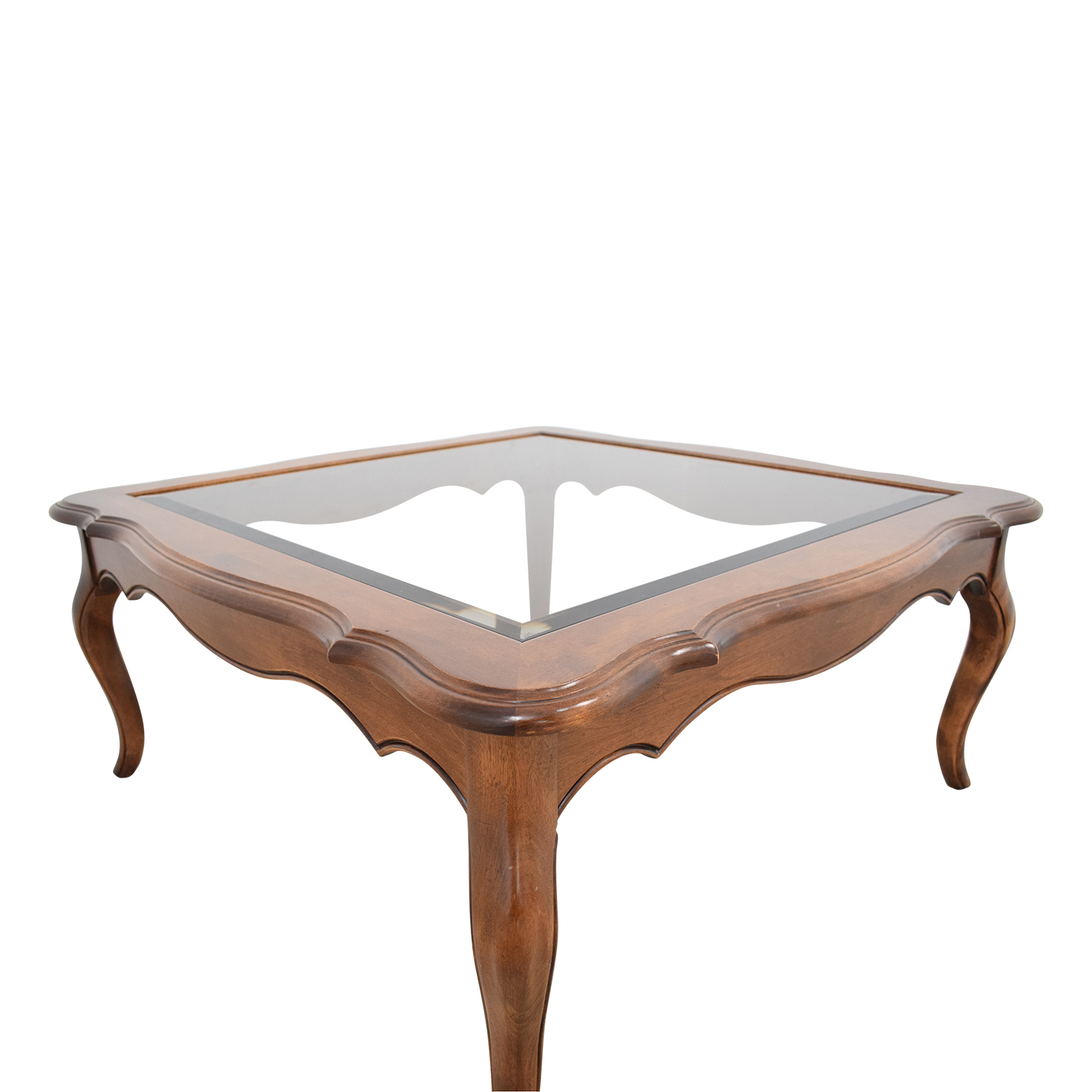 buy Ethan Allen Country French Glass Top Coffee Table Ethan Allen Tables
