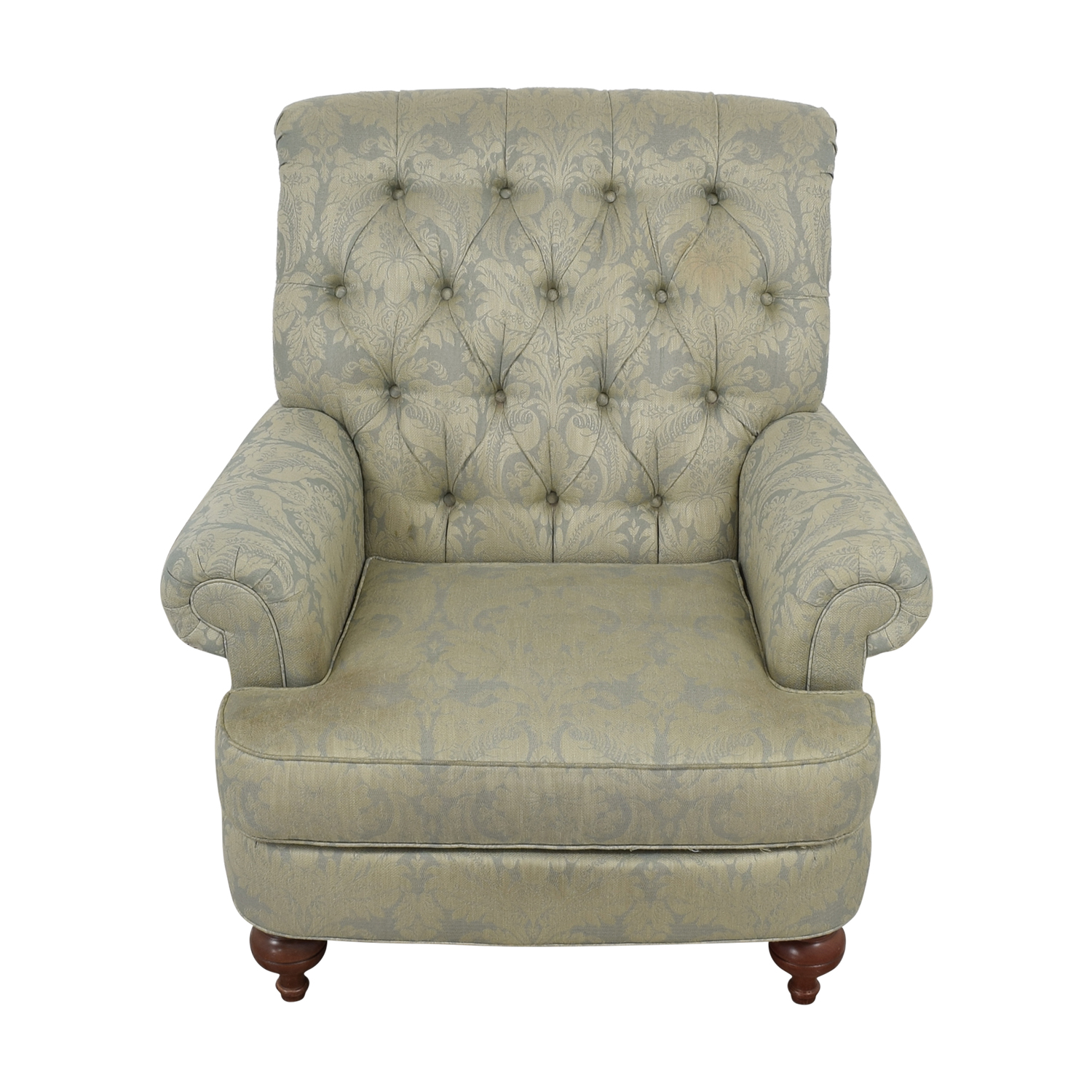 Ethan Allen Ethan Allen Tufted Arm Chair Accent Chairs