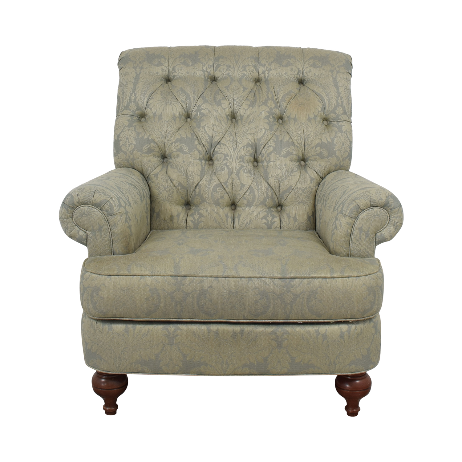 Ethan Allen Tufted Arm Chair / Chairs